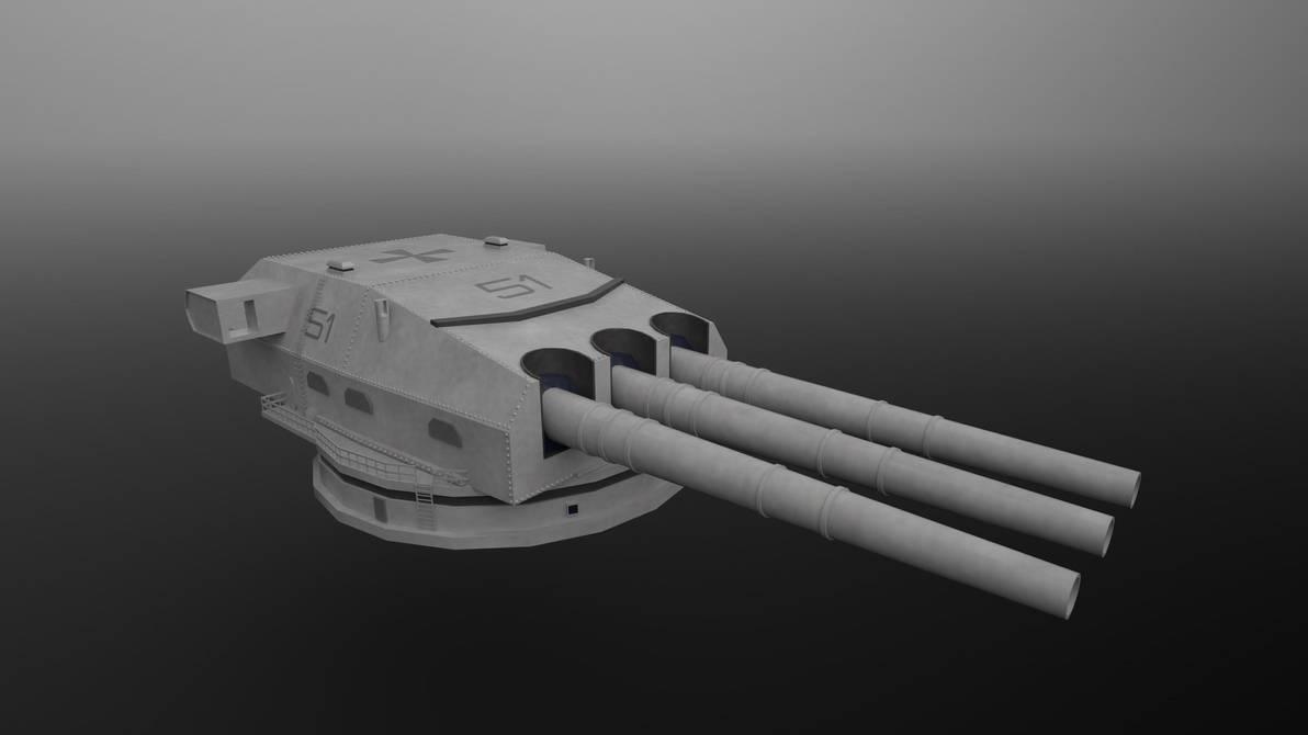 WWII German Battleship Turret by planetrix15