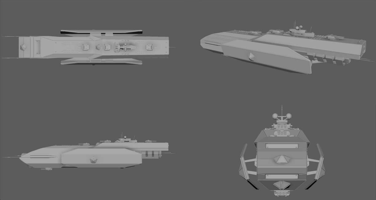 Dauntless Class Battleship by planetrix15