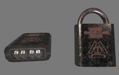 Worn Padlock by planetrix15