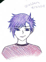 1st Sketch of Zaiden by H-A-G