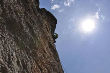 Climbing in the sun by u-9600