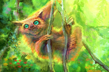 Owl Sloth by tylerlockett