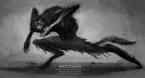 Wolfman Sketch3 Low by tylerlockett