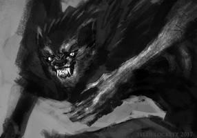 wolfman sketch3 CU by tylerlockett