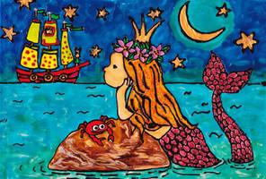 Fantasy Mermaid by mockingbirdontree