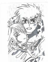 Syaoran and Sakura ch2 Inked by KibaWolf06