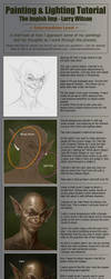 Lighting And Painting Tutorial - The Impish Imp by LarryWilson