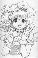 Sakura and Kero by omisgirl