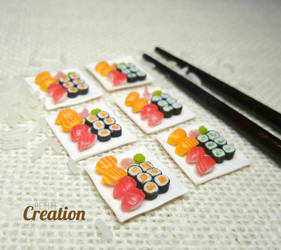 Miniature Maki Rolls Sets 1 by PetiteCreation