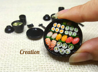 Miniature Sushi Party Tray 2 by PetiteCreation