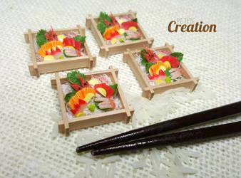 Miniature Sashimi Sets by PetiteCreation