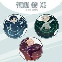 Yuri!!! on Ice | 1.5 inch charms by jojo215