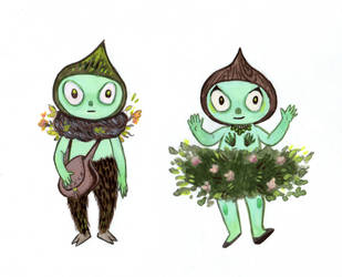 Miniature Forest People by RayGunNoey