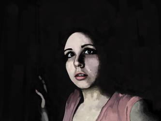 Charcoal Self-Portrait by simdragon90