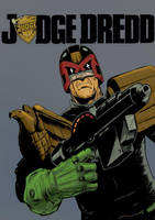 Judge Dredd colour by JohnnyMc