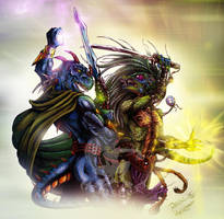 Collab: Devon vs Razor by Herisheft