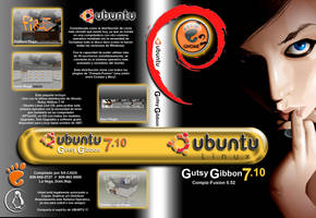 Ubuntu Gutsy Gibbon 7.10 DVD by arqsuriel