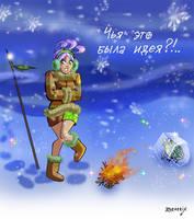 Frozen frog by Zoratrix