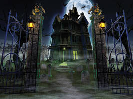 Haunted House. Happy Halloween! by JVS007