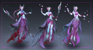 Commission: Dark Elf - concept sketches by Lea1301