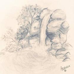 Waterfall doodle  by ArabellaTheKing