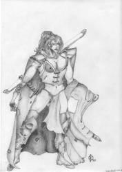 Fantasy Women Bow by darkfireeye
