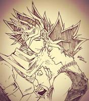 Atem and Yugi by ivegotajarofdiirt
