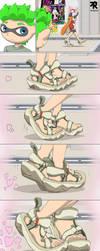 FFFF Comic - Inkling feet pervertion by CuadrupleF