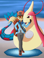 Commission - Katie Brown and Milotic by Daz-Keaty