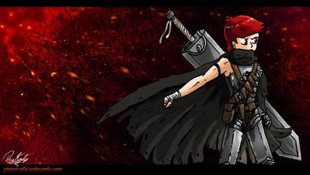 Gamer Cafe Wallpaper - Warren's Berserk Costume by Daz-Keaty