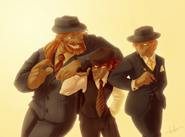 Brothers Tease Gangster Style by GreenVikeen