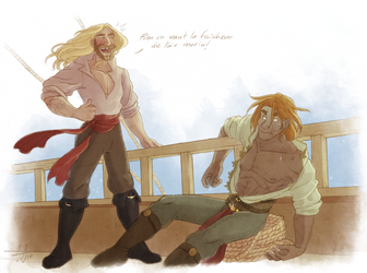 Gift - Two hotties on a ship... by GreenVikeen