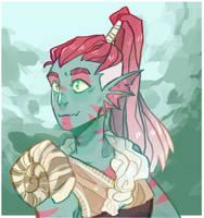 fish girl by Emberwyng