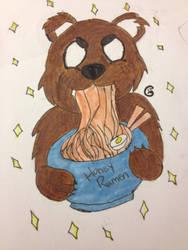 Ramen Bear by AmaraCreationz
