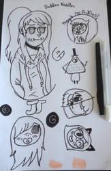 Random doodles noddles by AmaraCreationz