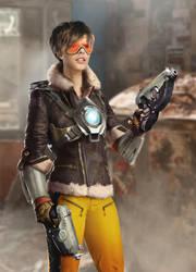 Tracer Overwatch Movie Concept by joshwmc