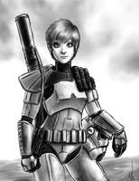 Sandtrooper girl by rafafloresart