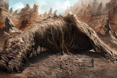 Dragon Carcass by AznKyuubi