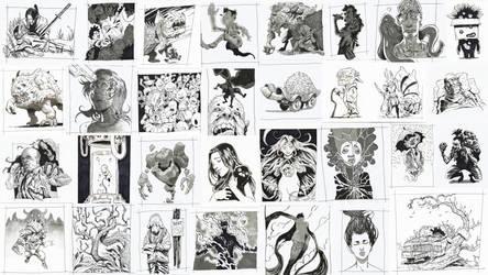 Inktober 2016 Drawings by AznKyuubi