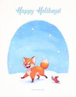 Winter Fox by autogatos