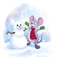 Snow Mouse by autogatos