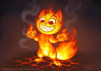 Catamancer Blazing Kitten by autogatos