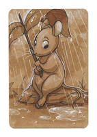 Mouse in the Rain by autogatos