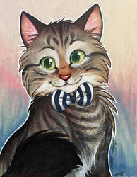 Etsy Marker Commission: Cat with Bowtie by autogatos