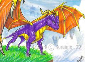 Spyro ACEO by Kuraime