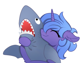 Luna with a Shark by MysteriousShine