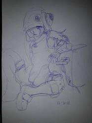 Little Cyborg (sketch) - OC by Scatina