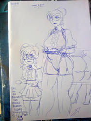 mother of daughter, learning lessons of discipline by Scatina