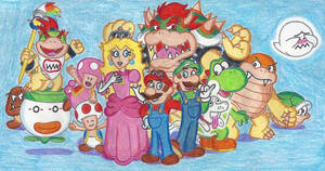 Super Mario and Company by Blockdasher91