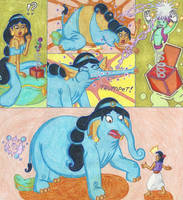 Djinn-in-a-Box - The Pachyderm Princess by Blockdasher91